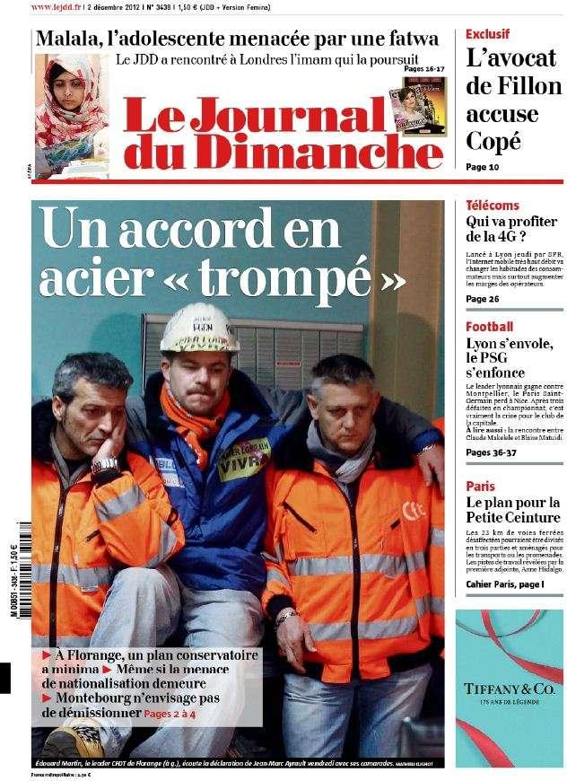 Le Journal du Dimanche 2 Décembre 2012