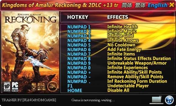 20120418174838 Kingdoms of Amalur: Reckoning (All Versions + 2 DLC) +13 Trainer
